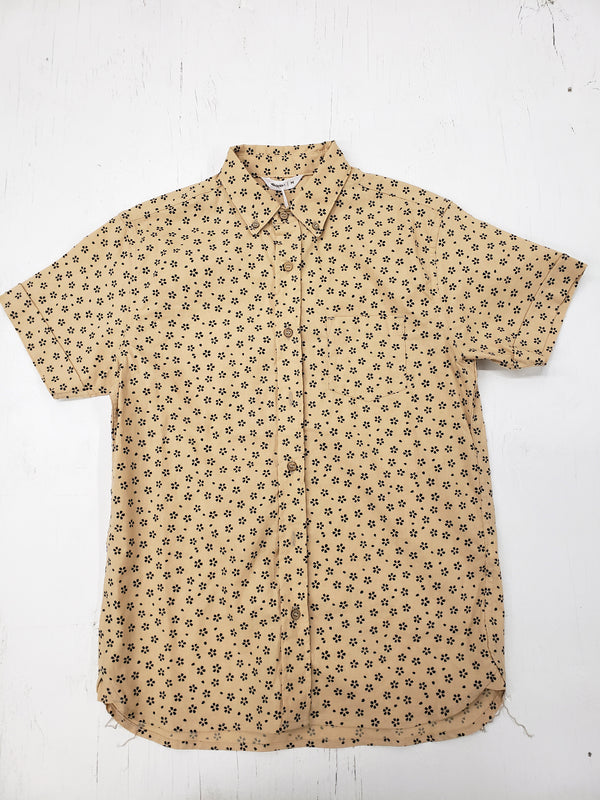 3sixteen Tan Sakura Print Short Sleeve