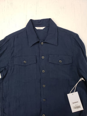3sixteen Navy Gauze Fatique Overshirt