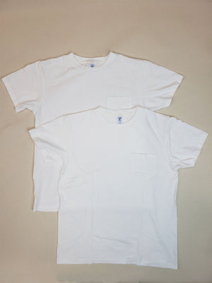 Velva Sheen 2 Pack White Pocket T-Shirts