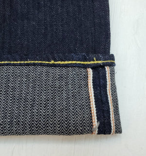 Graph Zero x Mildblend Supply Herringbone indigo Selvedge Denim