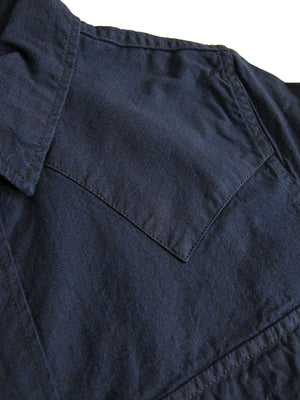 Pure Blue Japan Double Indigo 5 oz. Selvedge Chambray Western Shirt