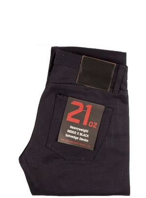 Unbranded 21oz Indigo/Black UB131 Skinny Fit Selvedge