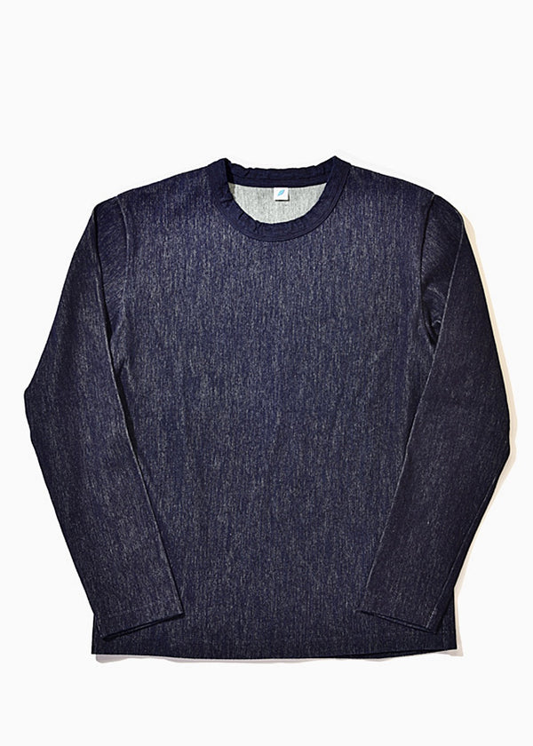 Pure Blue Japan Trill Crew Long Sleeve Indigo 5395