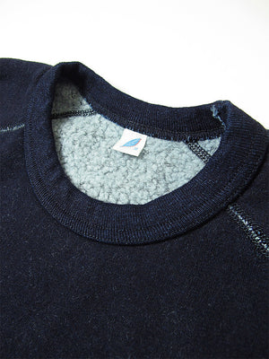 Pure Blue Japan Indigo Raised Back Sweatshirt