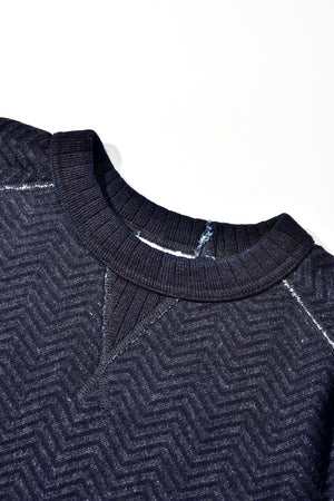 Pure Blue Japan Indigo jacquard sweater 5390-2