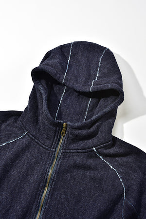Pure Blue Japan Indigo Jacquard Zip-Up 5393-1