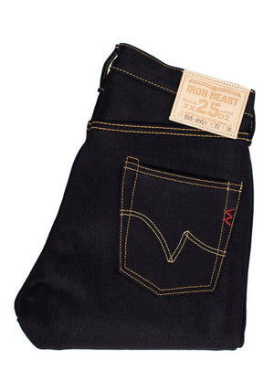 Iron Heart IH-555-XHSib 25oz Indigo/Black Selvedge Super Slim