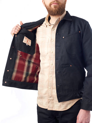 Mercy Supply Co Waxed Canvas Lined Jacket Black