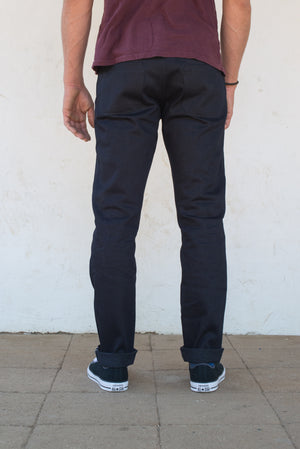 Freenote Cloth X Mildblend Supply 14.75oz Cone Indigo Warp/ Black Weft