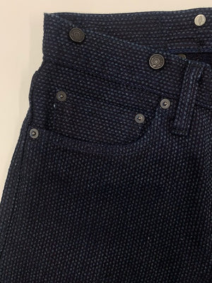 Pure Blue Japan Sashiko Cinch Back 1158