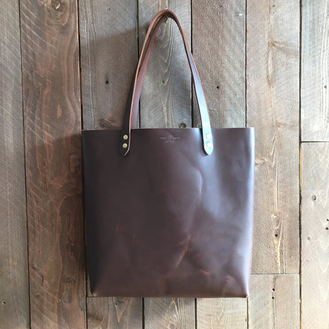 Howl and Hide Jameson Tote in Umber