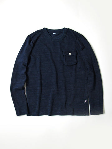 Pure Blue Japan Long Sleeve Slub Jersey