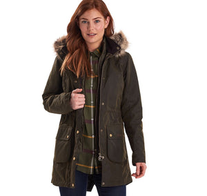Barbour Ladies Thrunton in Olive