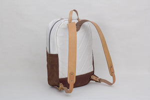 Winter Session Day Pack in Natural/Rust Waxed Canvas