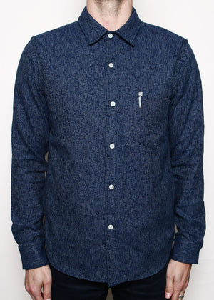 Rogue Territory Oxford Shirt Variegated Navy Flannel