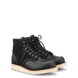 Red Wing 8818 6-inch Moc, Black Chrome / Black Abilene Roughout