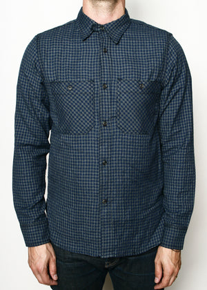 Rogue Territory BM Work Shirt Navy Gingham