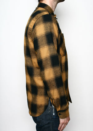 Rogue Territory BM Work Shirt Gold Neppy Plaid