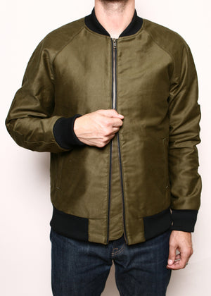 Rogue Territory Flight Jacket Olive Jungle Cloth