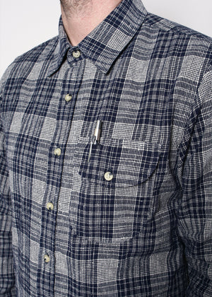 Rogue Territory Jumper Shirt Indigo Neppy Plaid