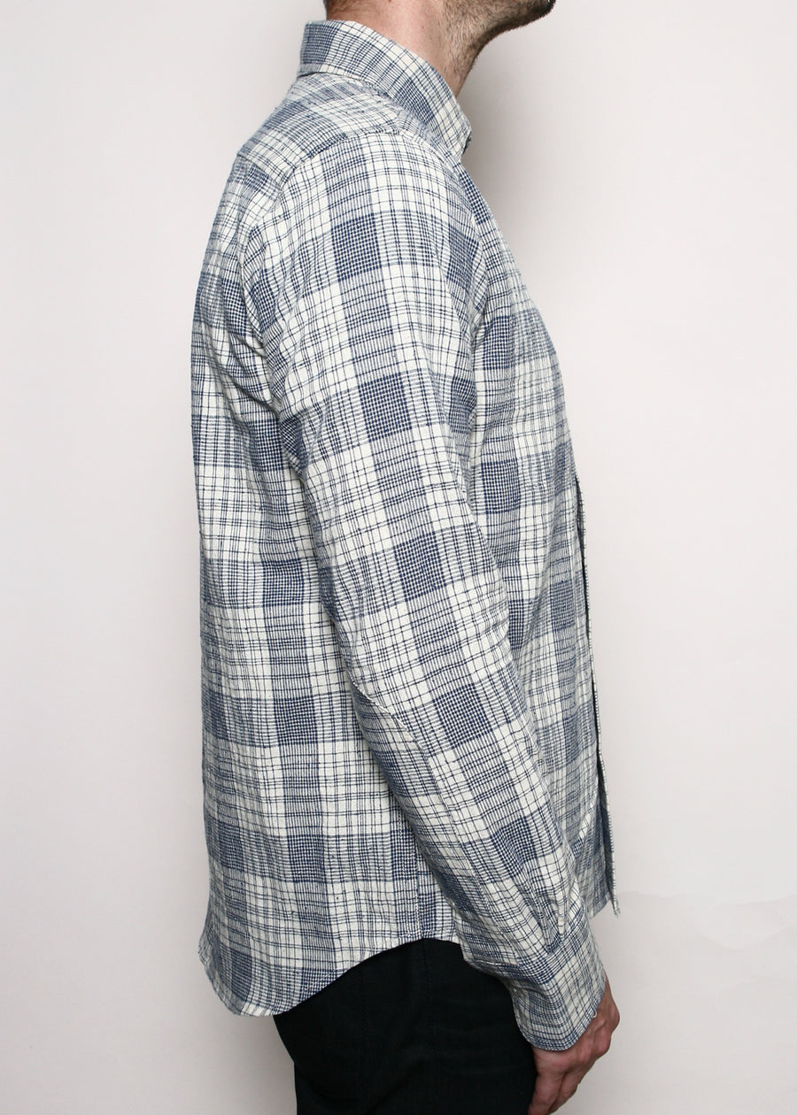 Rogue Territory Jumper Shirt Linen Blend Plaid