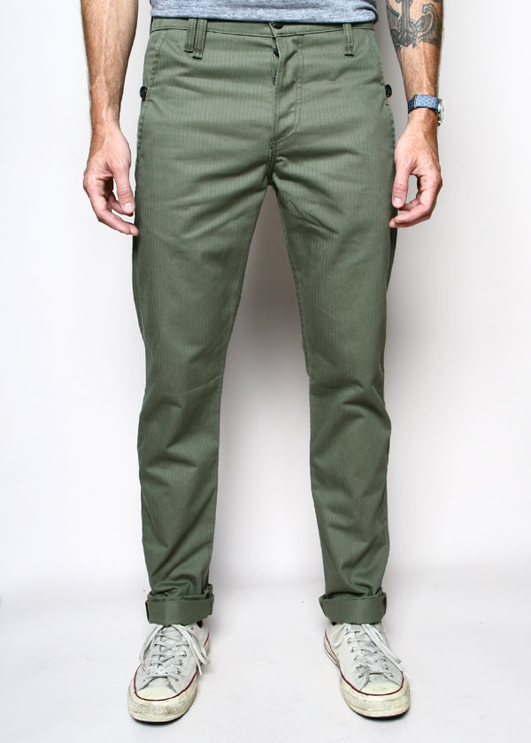 Rogue Territory Work Trousers Olive Herringbone