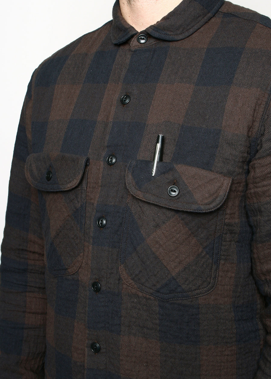 Rogue Territory Rancher Shirt Brown Quilted Plaid