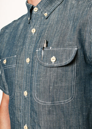 Rogue Territory Work Shirt Natural Indigo