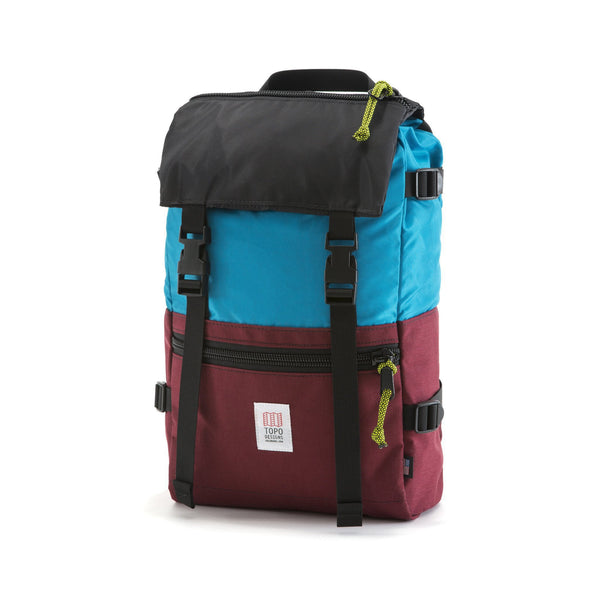 Topo Designs Rover Pack (Aqua/Burgundy)
