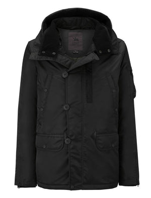 Spiewak Heron Snorkel Parka Flight Satin in Black