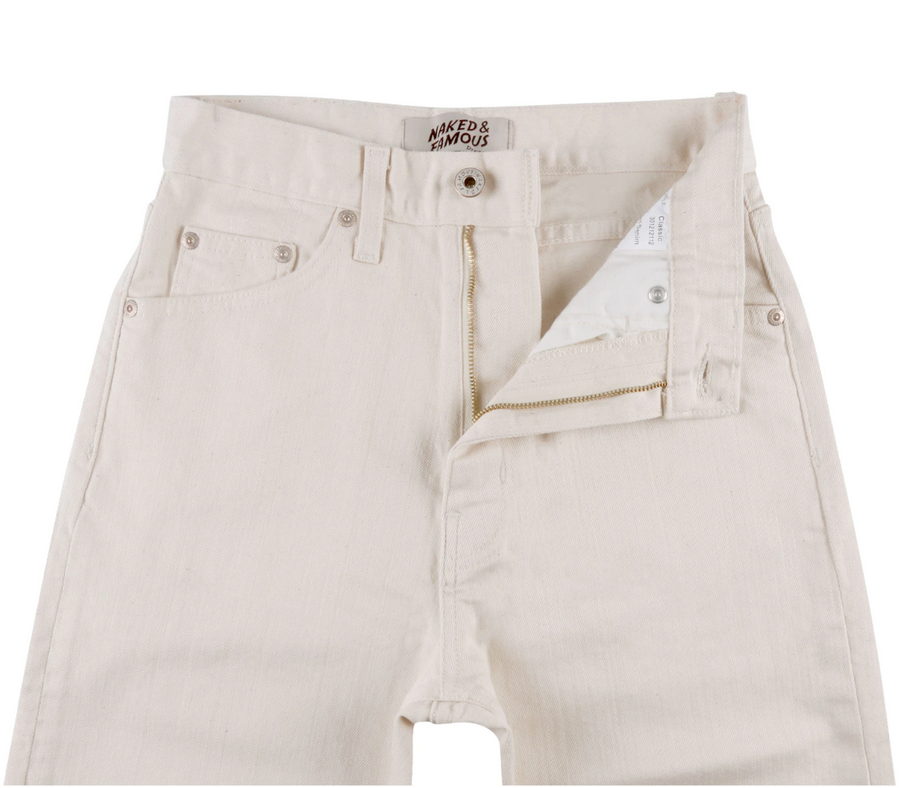 Naked & Famous Women's Classic Natural Seed Denim