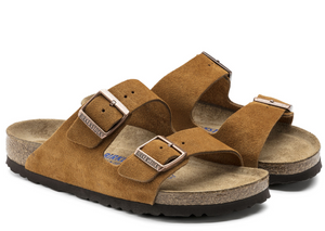 Birkenstock Arizona Soft Footbed Suede in Mink 1009526