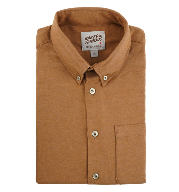 Naked & Famous Easy Shirt Soft Twill Dijon