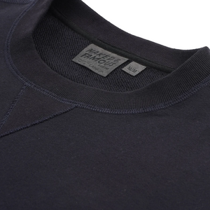 Naked & Famous Heavyweight Terry Crewneck Navy