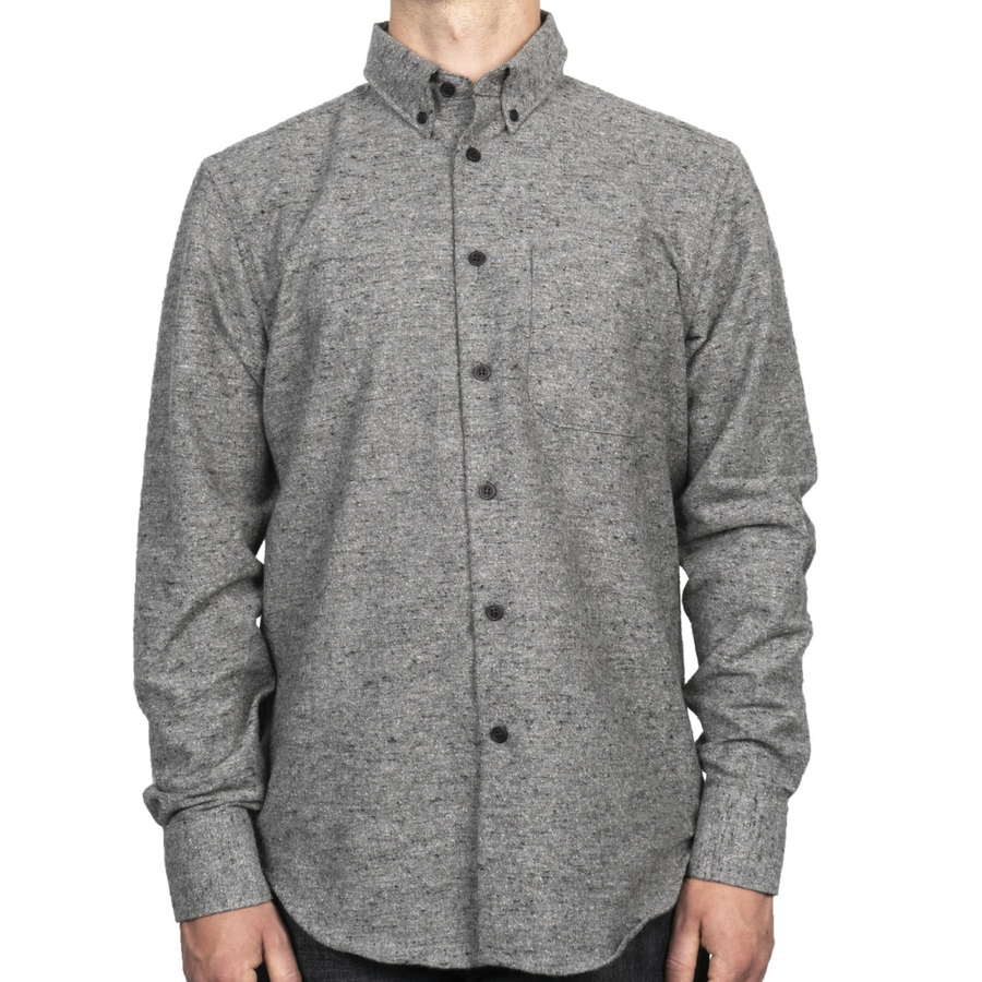 Naked & Famous Easy Shirt Nep Twill Grey