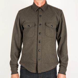 Kato by Hiroshi Kato The Anvil Shirt in Dark Green