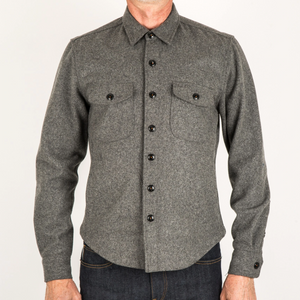 Kato by Hiroshi Kato The Anvil Shirt in Charcoal