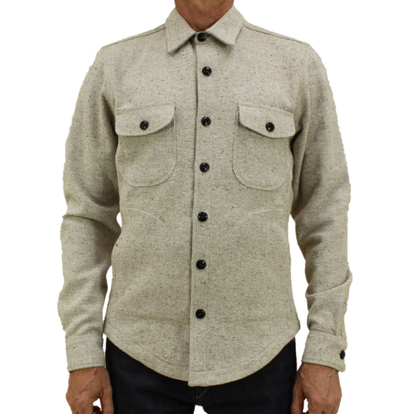 Kato by Hiroshi Kato The Anvil Shirt in Light Brown Nep