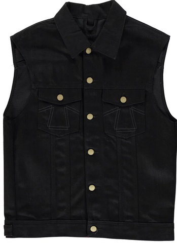 Eat Dust Fit 736 Denim Sleeveless Jacket in Bloodline