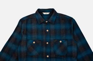 3sixteen Utility Shirt in Navy Black Ombre