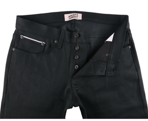 Naked and Famous Weird Guy Black Cobra Stretch Selvedge