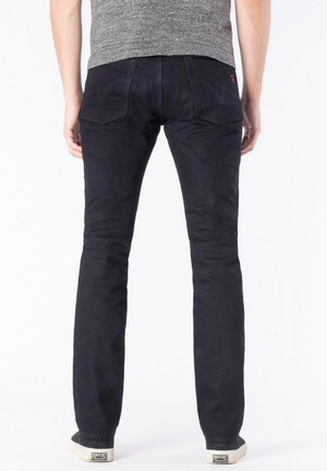 Iron Heart 555S-142ib  14oz Selvedge Denim Super Slim Cut Jeans - Indigo/Black