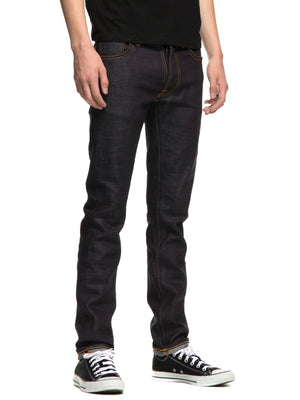 Nudie Jeans Tilted Tor Dry Royal Embo