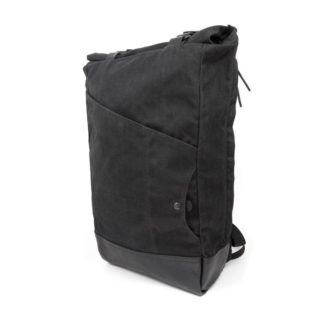 Teranishi Venture Backpack in Black Gridwax