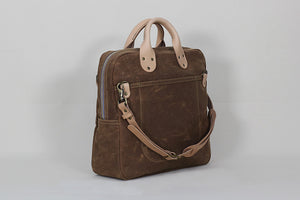 Winter Session Day Bag in Rust Waxed Canvas