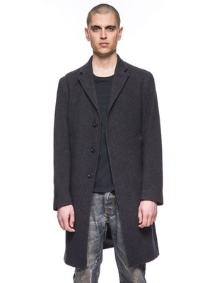 Nudie Jeans Waldo Recycled Check Coat Dark Brown