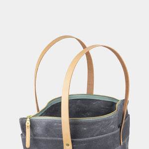 Winter Session Zip Top Tote in Grey