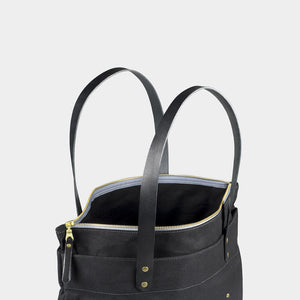 Winter Session Zip Top Tote in Black