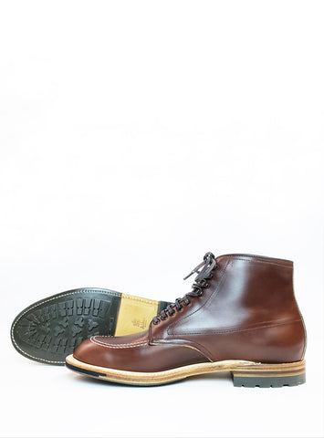 Alden Indy Boot in Brown with Mini Lug Soles 403C