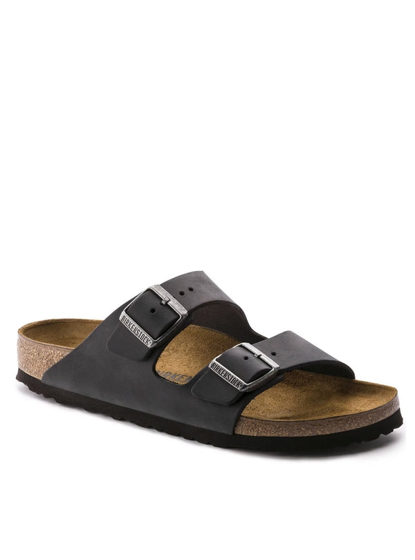 Birkenstock Arizona Oiled Leather in Black 552111